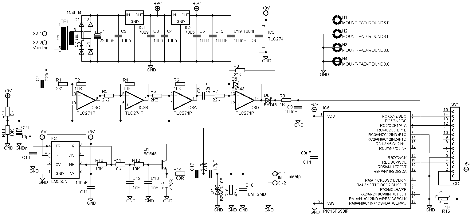 Esr Meter Elektronicastynus Capacitor Tester Circuit Diagram Electronic Circuits The Lcd Has To Be Connected Differently I Dont Know Why Anymore But Here Is New